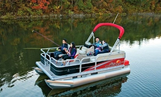 Rent 16' Fishing Pontoon Boat In Lake Pleasant, Ny