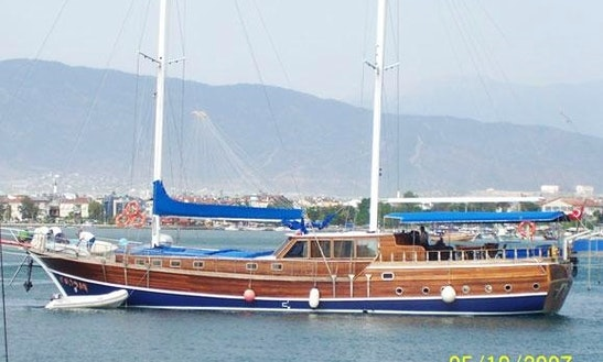 Excellent 9 Person Sailing Gulet For Charter In Fethiye, Mugla