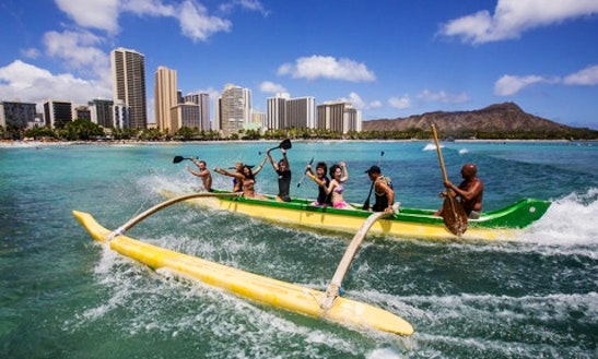 Outrigger Canoe Rides In Honolulu, Hawaii