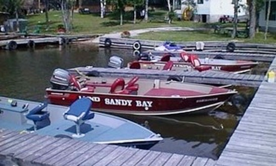 17.5 Lund Dlx Bass Boat Rental In Callander