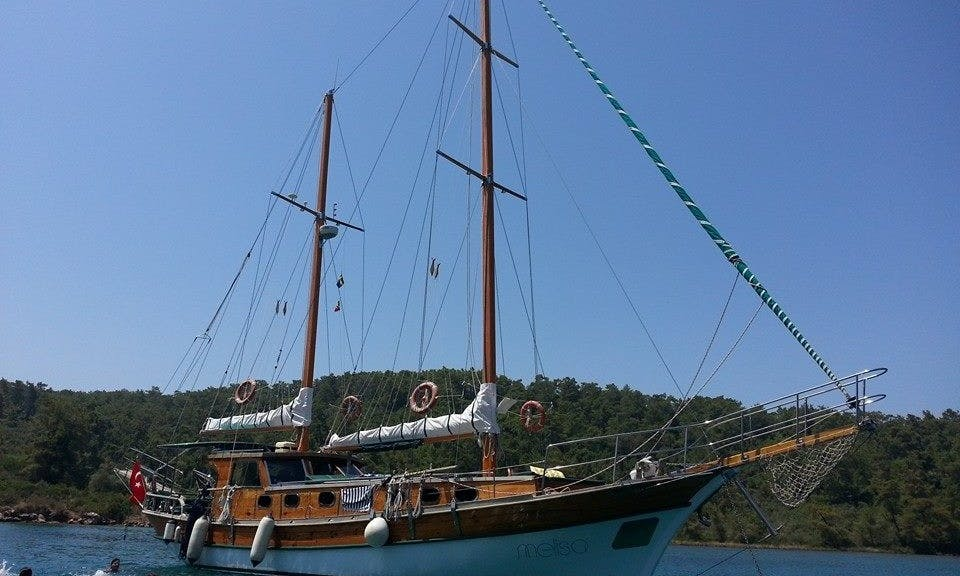 58' Turkish Sailing Gulet for Private Charter in Bodrum, Turkey