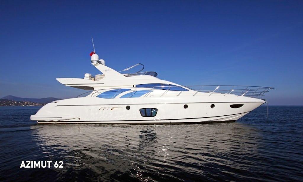 Beautiful Motor Yacht Charter AZIMUT 62 Fly Bridge In Montenegro