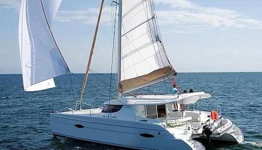 Charter A 41' Fountaine-pajot Lipari Sailing Catamaran In Bar, Montenegro
