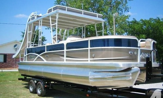 25' Pontoon Rental With Slide On Bull Shoals Lake