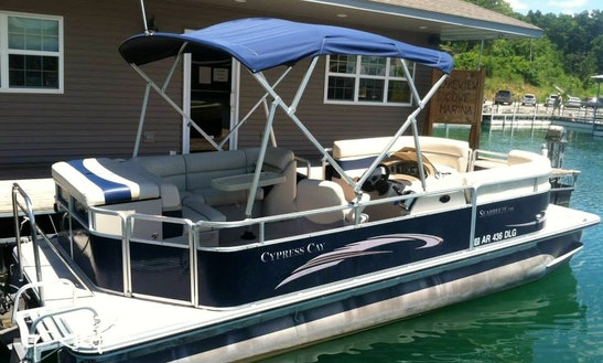 23' Pontoon Rental On Bull Shoals Lake
