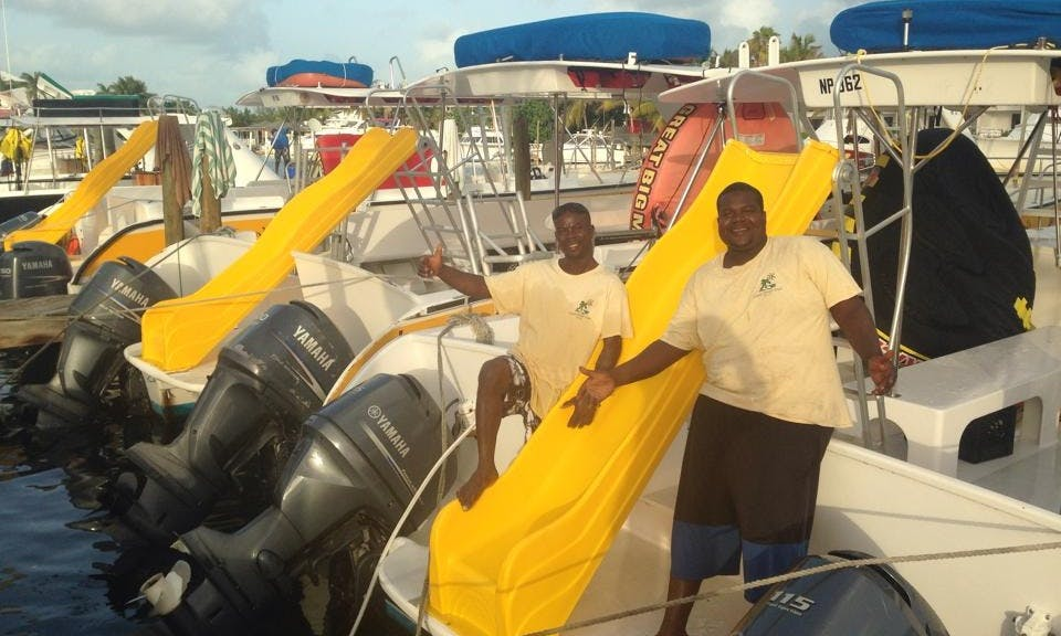 "32ft ""Dream Maker"" Power Catamaran Boat Charter in Caicos Islands, Turks and Caicos Islands"