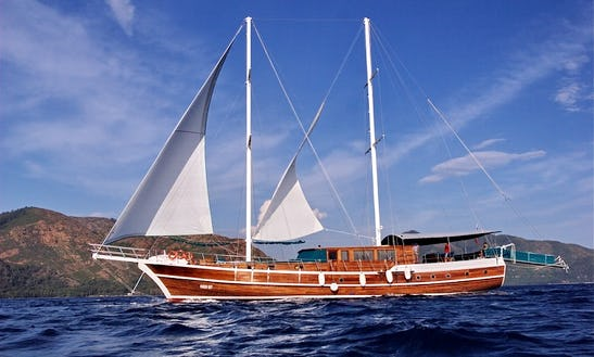 Sailing Mega Yacht In Marmaris