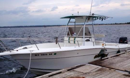 "Rent 25ft ""Marylee III"" Parker Center Console In Newbury, Massachusetts"