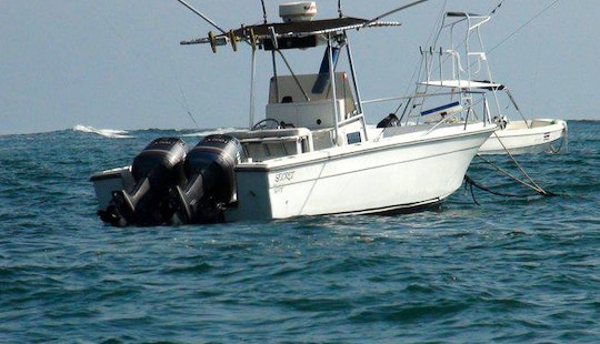 Fishing Trip With Twin Outboard Engine 27′ Robalo Boat In Costa Rica