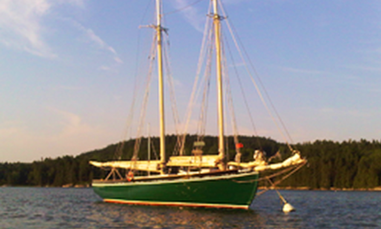 45ft Alamar Traditional Gaff Rigged Schooner Boat Charter In Brooksville, Maine