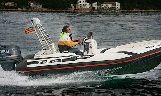 Rent Rigid Inflatable Boat Zar 47 In Puntaldia