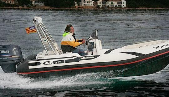 Rent Rigid Inflatable Boat Zar 47 In Puntaldia