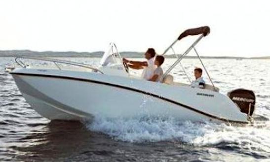Charter 16' Deck Boat In Trogir Croatia