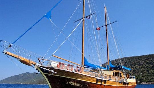 Charter A 12 Person Turkish Sailing Gulet In Mugla, Turkey!