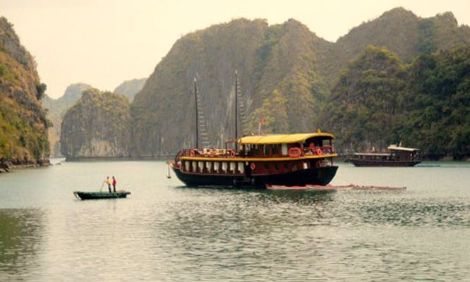 Charter cruise on passenger boat in Halong Bay