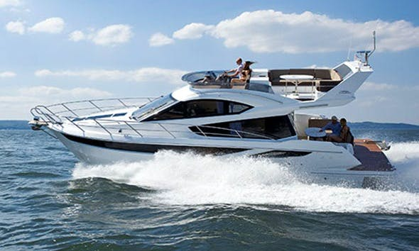 Cruise on Galeon 420 Fly Yacht Charter in Mallorca, Spain