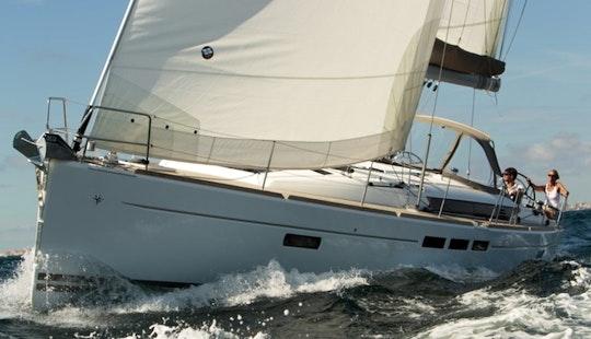 Greek Monohull Yacht  Sailing
