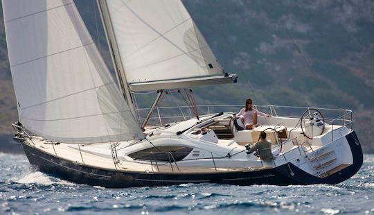 Monohull  Cruiser  Sun Odyssey 50ds Sailing In Sani