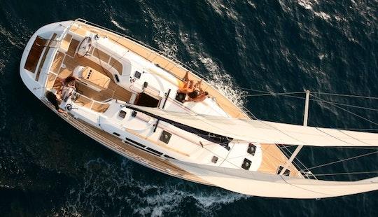 Greek Sun Odyssey 49i Sailing In Sani
