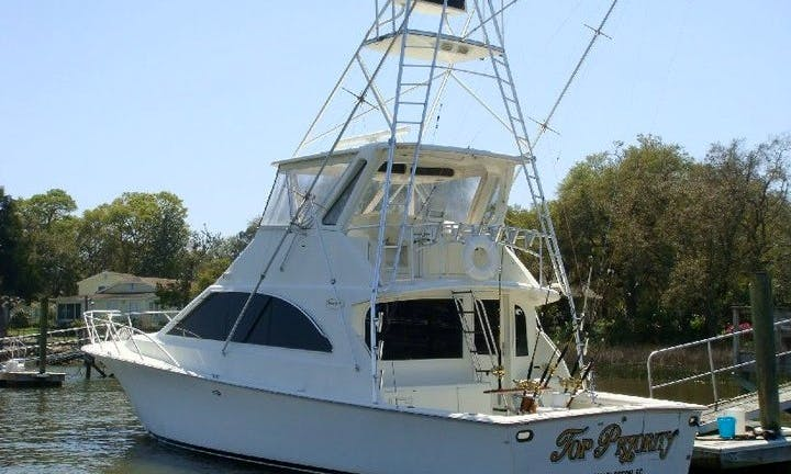 "Fishing Charter On 48ft ""Top Priority"" Luxury Yacht In Charleston, South Carolina"