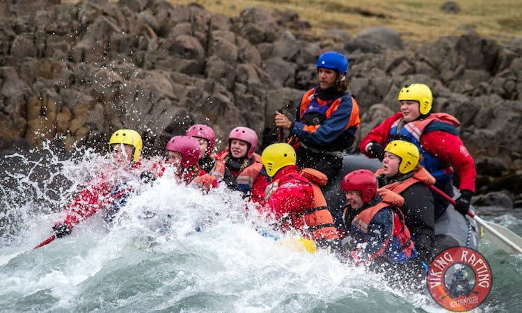 Family Rafting in The West Glacial River,Iceland