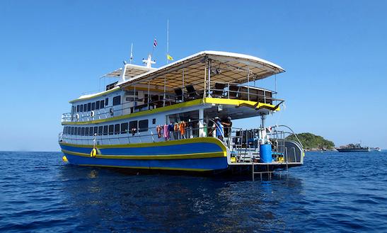 Oktavia 96' Motor Yacht Scuba Charter In Tambon Khuekkhak
