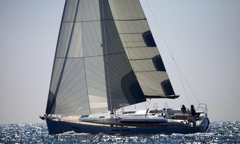 "43ft ""Mira"" Sun Odyssey 439 Cruising Monohull Rental In Tropea, Italy"