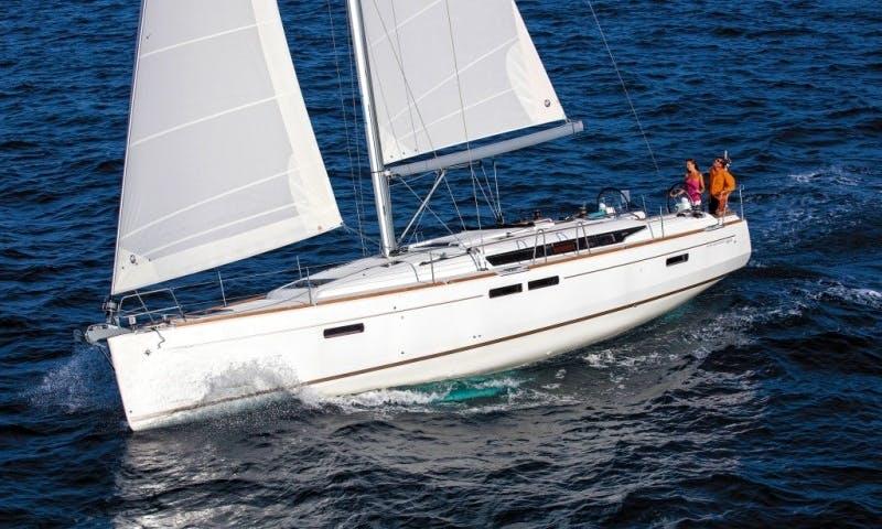 "46ft ""Alhena"" Sun Odyssey 469 Cruising Monohull Rental In Tropea, Italy"