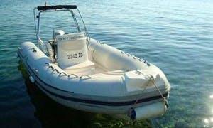 Sea Pioneer 540 RIB Rental on Zadar Coast