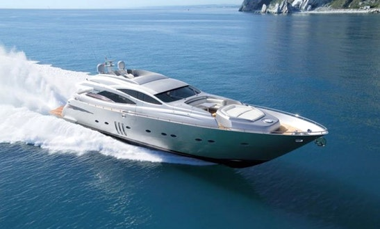 Pershing 90 Super Yacht With 3 Cabins For Charter In Ibiza, Spain