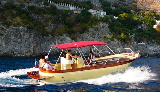 Gozzo Bella Vita 30' Deck Boat Captained Charter In Minori, Italy