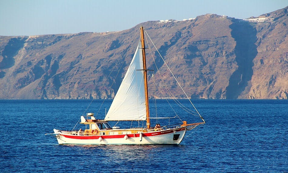 Traditional Sailing Boat in Greece