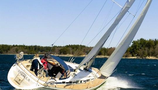 Charter Cruising Monohull In The Stockholm Archipelago