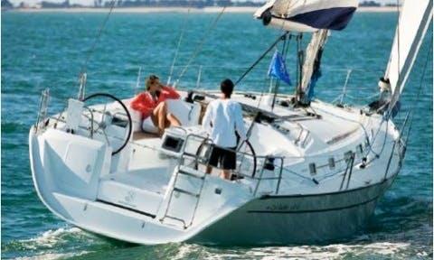 39ft Beneteau Cyclades Cruising Monohull Boat Rental in Barcelona, Spain