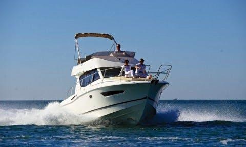 Cuddy Cabin Boat Fishing Charter in Barcelona, Spain