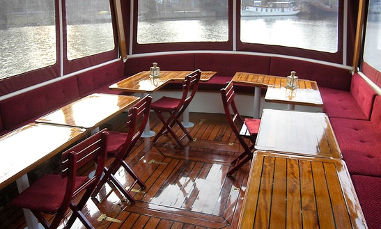 65' Canal Boat Charter In Amsterdam, Netherlands