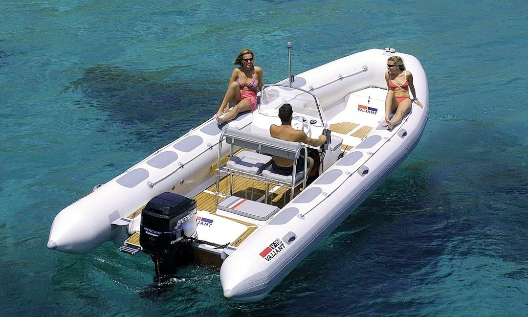 Rent a 23' Valiant 750 RIB in Port d'Andratx for 10 person