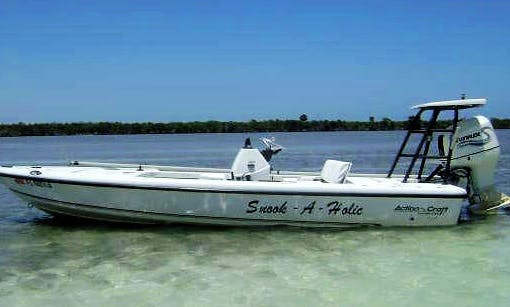 "Fishing Charters on 18' Flatsmaster Action Craft ""Snook-A-Holic "" in Coral Gables"