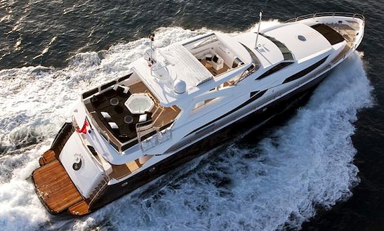 Black & White Motor Yacht Charter In Mediterranean