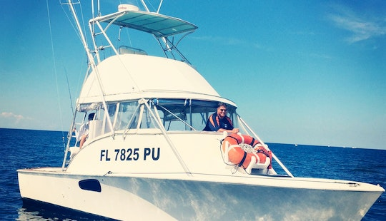 33' Sport Fisherman Charter In Cape Canaveral, Florida