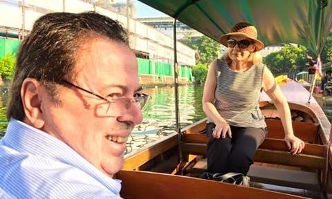 Small Teak Boat Canal Adventure in Bangkok