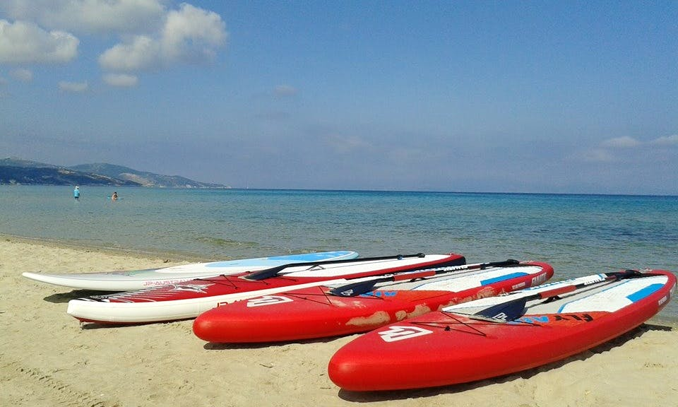 Stand Up Paddleboard Rental in Alykes Beach Zakynthos