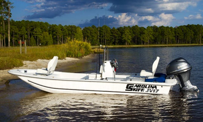 Enjoy Fishing On 17' Carolina Skiffs Center Console In Marsh Harbour, Central Abaco