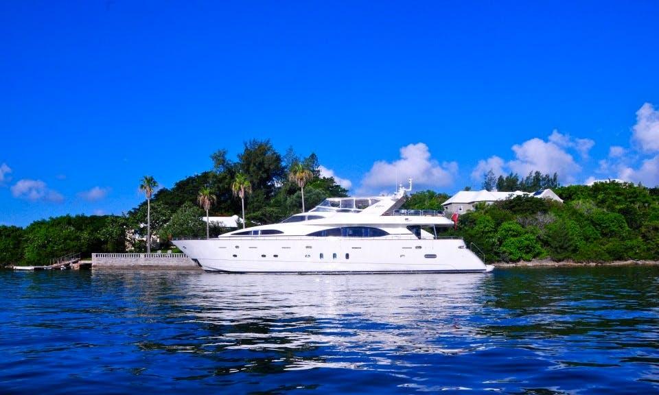 "100ft ""MV Venetian"" Azimut-Benetti Luxury Power Mega Yacht in Bermuda"