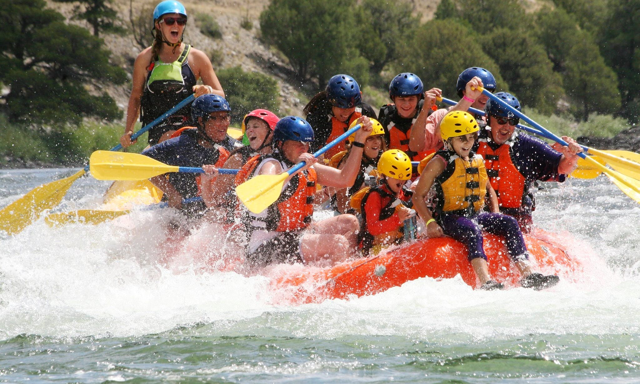 Whitewater Rafting on Yellowstone River in Montana