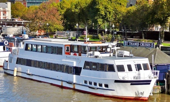 70' Thames Luxury Princess Passenger Boat In London, England United Kingdom