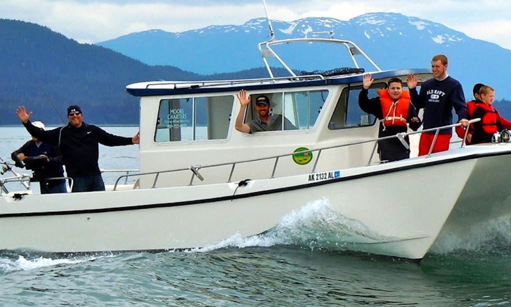 30ft the alaska goose power catamaran boat charter in for Juneau fishing charters