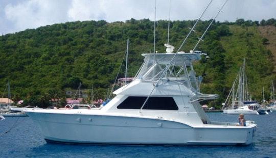 Deep Sea Fishing Aboard 45ft Hatteras Vessel In San Juan, Puerto Rico