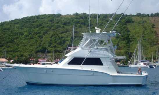 Deep Sea Fishing Aboard 45ft Hatteras Vessel In San Juan, Puerto Rico