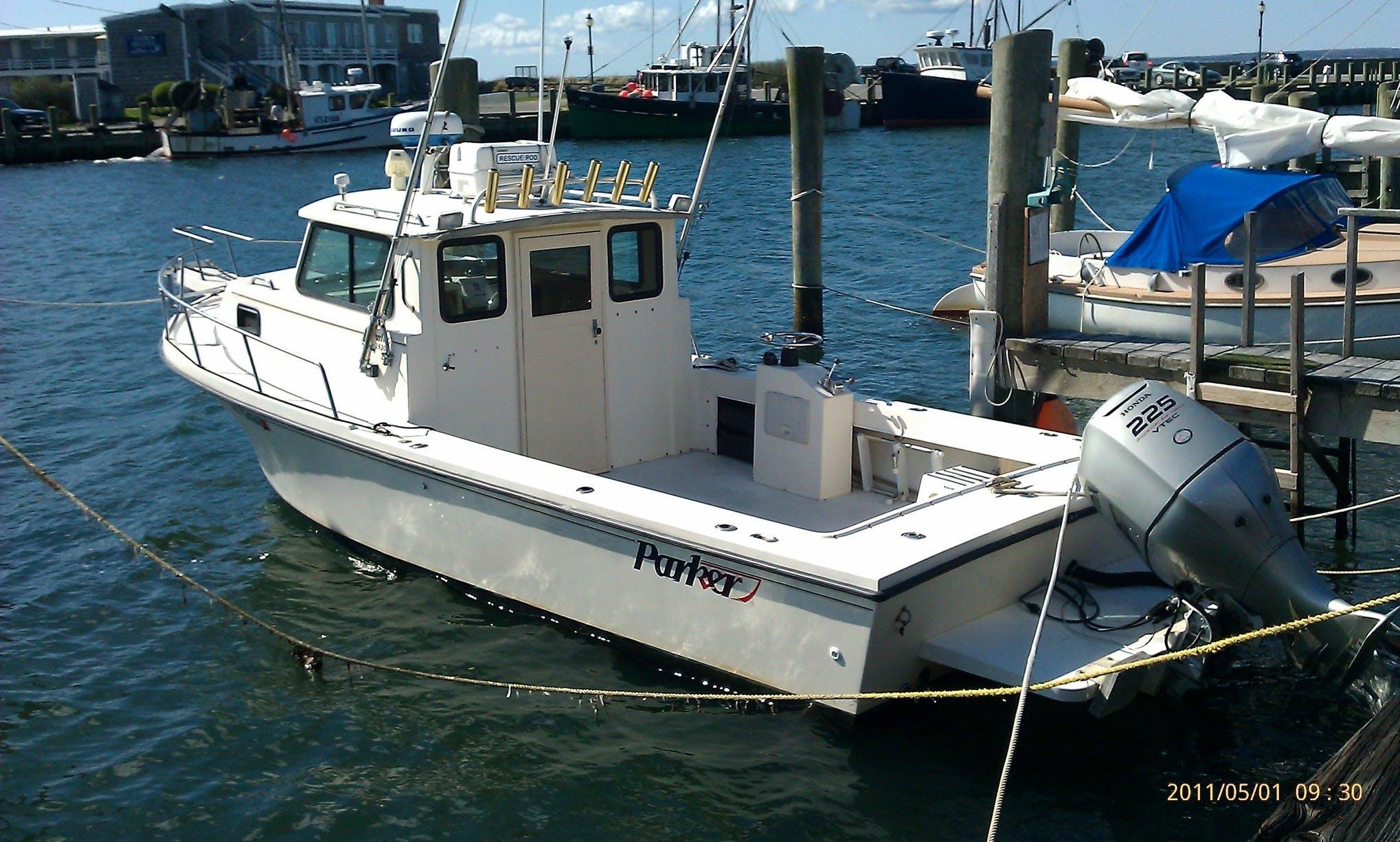 """25ft """"Parker"""" Sportfisherman Boat Charters in Gloucester, Massachusetts"""
